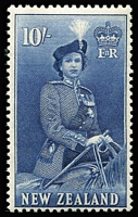 Lot 455 [1 of 3]:1953-59 Queen-On-Horse ½d to 10/- set SG #723-36, fresh MUH, Cat £100. (16)