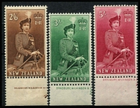 Lot 1466 [2 of 3]:1953-59 Queen-On-Horse ½d to 10/- set SG #723-36, 2/6d to 10/- marginal examples, fresh MUH, Cat £100. (16)