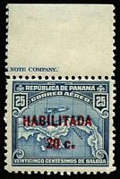 Lot 1491:1932 Air Optd 'HABILITADA' 17mm overprint in red SG #260a, marginal example with part imprint, MUH, Cat £250+.