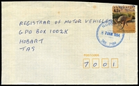 Lot 862 [1 of 9]:1970s-90s Datestamp Collection: on commercial covers/stationery (few PO forms included), useful stamp usage and/or postmark entry point, stated by vendor to be without duplication, generally good strikes/condition. (Approx 700.)