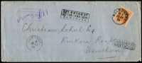 Lot 1240 [1 of 8]:1899-1911 unclaimed mail selection comprising Ballarat, Brighton, Hawthorn, Kew, Melbourne, North Melbourne, St Kilda, South Melbourne, two are registered, odd fault. (8)