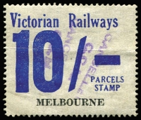 Lot 1183 [1 of 2]:1958-66 Eleventh Series 1d to 10/- set (ex 4/-) mostly with tidy (Melbourne) 'CANCELLED/CCM' handstamps in violet. (17)