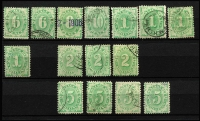 Lot 300 [4 of 4]:1902-04 Design Completed Wmk Crown/NSW Compound Perf Selection with mint ½d x3, 3d (no gum), 4d x2 (one Wmk inverted) & 6d; duplicated used including 4d x5, 5d x2, 8d, 10d, 1/- x4, 2/- x3, 5/- x4, some stamps Wmk inverted; mostly fine. Cat $1,000+. (41)