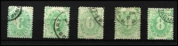 Lot 822 [2 of 3]:1902 Blank At Base Selection with mint ½d x2, 2d, 3d (toning) & 6d; used ½d x2, 1d x3, 2d x3, 3d, 4d, 6d x2, 8d & 5/-, several Watermark inverted including 2d, generally fine, Cat $800+. (19)