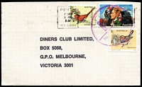 Lot 277 [1 of 6]:1980s Use of Large Circular 'F/No' Handstamp as canceller on three covers accompanied by Post Office letter explaining that it was used to signify the last bag of a clearance being despatched to the Melbourne Mail Centre and was not intended to be used as a letter canceller; also two covers with parallel line cancels used on mail which for some reason had not been cancelled by cancelling machines, plus one other item. (6)
