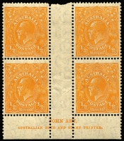 Lot 164 [1 of 4]:½d Mint Selection with Single Wmk ½d green x6 including White dash in right side of left value tablet BW #63(1)h (toning) & Barb on fraction bar at right #63(4)q; LMult ½d green x6 (shades); ½d orange Single Wmk x2 (one Watermark inverted), SMult P13½x12½ and a CofA Ash Imprint block BW #69(8)z. (16 items)