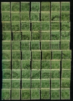 Lot 236 [2 of 2]:1d Green Accumulation in stockbook, unsorted, potential for varieties & shade enthusiasts, limited postmark interest. (2,000 approx).