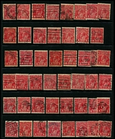 Lot 237 [3 of 3]:1d Red Accumulation mostly Single Wmk Smooth Paper, good variety of shades, possible postmark interest including numeral types. (240 approx).