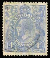 Lot 187 [2 of 5]:Watermark Inverted Group comprising Single Wmk 4d orange (shades) x3, Harrison 4d blue & CofA 2d red pair, Cat $190+. (5 items)