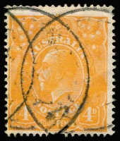 Lot 187 [3 of 5]:Watermark Inverted Group comprising Single Wmk 4d orange (shades) x3, Harrison 4d blue & CofA 2d red pair, Cat $190+. (5 items)
