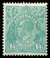 Lot 690 [1 of 2]:½d To 1/4d set, plus ½d to 5d optd 'OS', fresh MUH, Cat $650+. (13)