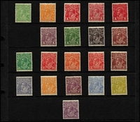 Lot 1066 [2 of 2]:½d To 4½d ex 1d Red Die II but including Die III, mostly well centred, fresh MUH, Cat $1,000+. (21)