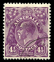 Lot 148:4½d Violet Die II CTO BW #121A, well centred, with gum, Cat $150.