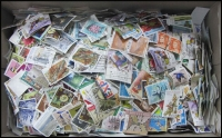 Lot 146:1.0kg Of 1960s-1990s Off-Paper excellent variety with multiples & higher values. (1,000s)
