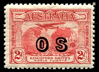 Lot 680 [2 of 2]:1931 Kingsford Smith Overprinted 'OS' BW #141-42(OS), key 3d value MUH, Cat $925. RPSV Certificate (2017) for the 3d. (2)