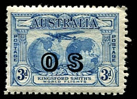 Lot 680 [1 of 2]:1931 Kingsford Smith Overprinted 'OS' BW #141-42(OS), key 3d value MUH, Cat $925. RPSV Certificate (2017) for the 3d. (2)