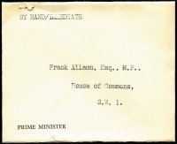 Lot 472 [2 of 5]:Government or Official Mail Selection including 1960s House of Commons or Government Departmental 'OFFICIAL PAID' mail including 1964 with 'HOUSE OF COMMONS/SPEAKER' oval handstamp, undated PM's Office 'BY HAND/IMMEDIATE' cover; also postal stationery including 1912 KGV ½d Postal Card for Borough of Hastings with Reply Card intact, 1949 5½d + 1d Registration Envelope with Mobile Post Office No 1 datestamps; also some unrelated or foreign material. Interesting lot. (50)