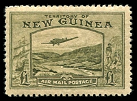 Lot 1396 [1 of 3]:1939 Bulolo Air ½d to £1 set SG #212-25 with well centred 10/- & £1, fine mint, Cat £1,100. (14)