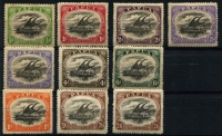 Lot 1412 [2 of 2]:1910-11 Large 'PAPUA' Perf 12½ ½d to 2/6d Types B (some paper adhesion on gum) & C set SG #75-83, including 2½d shade with Thin 'd' at left & 4d shade with Deformed 'd' at left, odd minor tone, fine mint overall. (11)