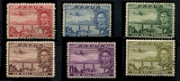 Lot 858 [3 of 4]:1938-41 Selection comprising 1938 Declaration set used SG #158-62, 1939 Airs 2d to 1/6d sets #163-68 mint & used, Cat £185. (17)
