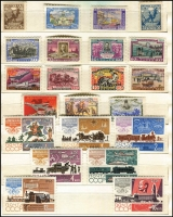 Lot 495 [2 of 4]:1920s-90s Array With Sets & M/Ss in presentation album (with slipcase) including 1921 Volga Relief imperf 2,250r red & 2,250r blue, 1923 Agricultural Exhib set mint, 1958 Postage Stamp Anniv, 1966 Far Eastern Territories, 1968 Architecture, 1970 Lenin Birth Centenary, 1975 WWII Victory + M/S, etc; fresh MUH. (few 100s)