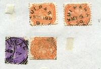 Lot 1118 [2 of 10]:(3) 'K' To 'Y' Datestamp Collection on Ledger Pages with lots of rated cancels including [Rated 5R] Wild Horse Plains [Rated 4R] McGrath's Flat UF5, Mambray Creek F1 x2, Mintaro UF4a, Mintaro Railway F1-1, Modbury UF4a, Mt Templeton F1-2, Mount Torrens UF3, [Rated 3R] Keilli F1 x2, Kilkerran F1 x2, Kingswood F1 x4, Koolunga F1 x5, Kulpara UF4b x2 & SC x2, Kybunga SC2, Lancelot F1, Leigh's Creek SC1, Leighton F1-1, Linwood F1, Loxton's Hut SC, Lyndhurst SC x2, Mallala F1 x5, Manoora UF4b, Marrabel UF4a, Meadows North SC, Melrose UF4a x2, Mintaro Railway x2, Morchard F1 x3, Mundoora F1 x3, Myponga Jetty UF4b, Orrie Cowie UF3, Parnaroo UF4b, Quorn SC5, Second Valley UF4b, Sliding Rock F1 x2 (one ERD), Strangways Springs F1 (on 6d pair), Torrens Vale F1 x3, Wirrialpa SC, Wisanger SC & Yanyarrie F1, plenty more lower rated strikes, also a number of ERDs or LRDs; strikes generally fair to fine part to large-part strikes, few PPCs/covers. Another very good lot. (many 100s)