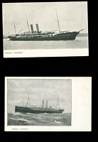 Lot 92 [2 of 5]:Ships - British Liners: predominantly unused black & white cards plus some phototographs with representations from Union Castle Line, Orient Line, White Star (including Olympic, Titanic & Lusitania cards), Royal Mail, Cunard, P&O, Canadian Pacific, Elder Dempster, etc. Generally fine. An impressive collection. (260+)