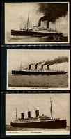 Lot 92 [3 of 5]:Ships - British Liners: predominantly unused black & white cards plus some phototographs with representations from Union Castle Line, Orient Line, White Star (including Olympic, Titanic & Lusitania cards), Royal Mail, Cunard, P&O, Canadian Pacific, Elder Dempster, etc. Generally fine. An impressive collection. (260+)
