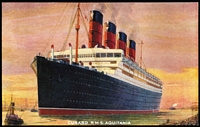 Lot 133 [1 of 5]:Ships - British Liners: mostly unused coloured cards (some used) plus a few moderns cards or reproduction, with representations from P&O, White Star, Royal Mail, Union Castle & Cunard, etc; generally fine. Colourful and impressive array. (150)
