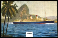 Lot 95 [2 of 4]:Ships - Italian Liners: approximately 50/50 mix of black and white and coloured PPCs from 1920s-60s era, most if not all are unused. Generally fine with little or no duplication. (69)