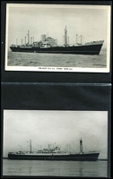 Lot 97 [2 of 4]:Ships - Shaw Savill, NZ Shipping & White Star Lines: selection of mostly black & white photos (few PPCs) with vendor's annotations indicating the year the ship was built and year it was scrapped, sold or wrecked/sunk. Generally fine condition. (115)