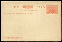 Lot 1282 [2 of 2]:1902 Reply Postcards 1d+1d and 1½d+1½d PSSA #RPC1-2, both in fine unseparated condition, Cat $200. (2)