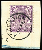 Lot 1182 [1 of 3]:1881-1911 GB Issues in Ascension with [1] QV 1d lilac pair SG #Z7 & ½d blue-green Jubilee SG #Z19 tied to 1901 piece, addressed to Scotland, by Type Z2 datestamps; [2] 1887-1922 selection with 2d Jubilee #Z10 (crease & mild discolouration, Cat £350), KEVII 1d red #Z22 bisect on small piece, KGV 1d red #Z40, KGV 3d violet #Z44 superb used on piece and KGV 2d orange Die I & 3d violet SG #Z42 & #44 tied to small piece; generally fine £1,200+. (6 items)
