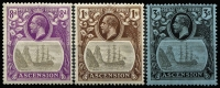 Lot 1267 [2 of 3]:1924-33 KGV Badge ½d to 3/- set, each stamp showing variety Broken mainmast SG #10a to 20a, 1½d slight toning, the 1/- value MUH, Cat £4,755. Rarely offered as a complete set. (12)