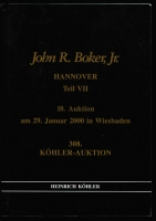 Lot 143:German States: 1997-2000 John R Boker Jr collection Kohler Auction Catalogues volumes I-VII with English translations, volume I with prices realised. (7)