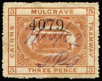 Lot 752 [1 of 4]:Selection with Queensland x23 to 1902 5/- including 1914 3d, 6d & 1/- (3d & 1/- defective) for company user Taylors & Elliotts, plus 1897 3d Mulgrave Tramways; Victoria x13 with 1887 Series to 6d & 1/-; condition generally fair to fine. (36)