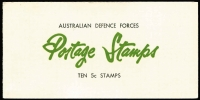 Lot 800 [1 of 4]:1966-72 Booklet Selection comprising comprising 60c 4c red (2), Provisional 5c on 4c, 50c (1), $1 (5), $1 5c blue (1), 50c Defence (1), Famous Australians $1 (5), $1.20 (4), Prime Ministers $1 (4), 70c both types (2 each), $1.40 (4), fine, Cat $860+. (31)