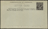 Lot 839 [2 of 2]:1918-20 1½d KGV Sideface 1½d black-brown, view 'PINEAPPLES QUEENSLAND' BW #LC41(102B), very fine unused, Cat $200.