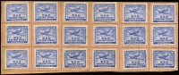 Lot 827:WWII No Watermark 6d 'Spitfire' P11 x18 affixed to upper portion War Saving Stamps Booklet, stamps in fine condition.