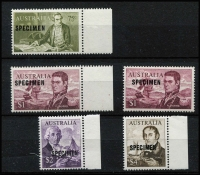 Lot 720 [2 of 2]:1966-72 Navigators 75c to $4 set optd 'SPECIMEN' including 15mm overprints for the 75c & $1 values, fresh MUH, Cat $380. (6)
