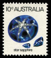 Lot 831:1974-80 10c Star Sapphire variety Printed on gummed side, BW #648ci, fresh MUH, Cat $100.