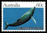 Lot 768:1982 60c Whale Essay showing solid blue background BW #930(E)1, fresh MUH, Cat $350.