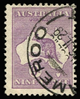 Lot 512:9d Violet Die IIB variety Thin-necked kangaroo [3R28] BW #27(3)g, fine used, Cat $250.