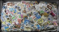 Lot 154:1.2kg Of 1960s-2000s Off-Paper Kiloware big variety, including higher values. Excellent yield. (many 1,000s)