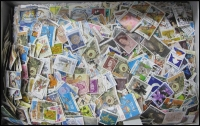 Lot 155:1.2kg Of 1960s-2000s Off-Paper Kiloware good variety, values to $5 & $10. Colourful mix. (1,000s)