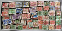 Lot 159:1930s-60s Mostly KGVI-QEII Pre-Decimal Bundleware. crammed into shoebox, mostly low denominations. Excellent lot for researchers or variety hunters. (weight 1.5kg+, 10,000s).