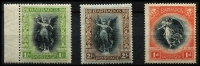 Lot 1276 [2 of 3]:1920-21 Victory ½d to 3/- set plus 1d change of watermark SG #201-212, generally fine mint, Cat £150. (12)