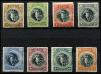 Lot 1276 [3 of 3]:1920-21 Victory ½d to 3/- set plus 1d change of watermark SG #201-212, generally fine mint, Cat £150. (12)