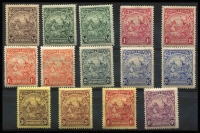 Lot 1465 [3 of 3]:1925-35 Badge ¼d to 3/- set SG #229-39 including all changes of perf & shade (ex 2½d bright ultramarine P13½x12½), fine mint, Cat £180. (20)