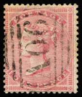 Lot 1226 [1 of 2]:1858-60 Issues Used in Belize QV 4d rose with crisp strike of 'A06' cancel SG #Z2, and 6d lilac tied to piece by bold 'A06' cancel SG #Z3, fine 'BELIZE/SP17/1858' double-arc datestamp above; both fine condition, Cat £800. (2)